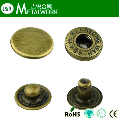 [Hot Item] Eco-Friendly Metal Snap Button, Snap Fasteners