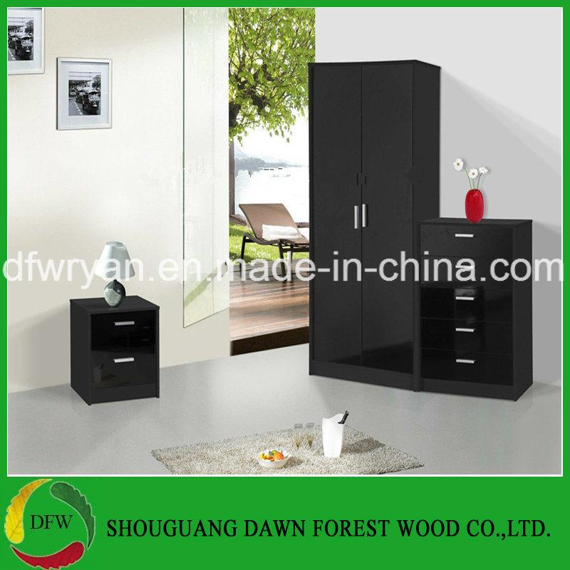[Hot Item] New Design Black High Gloss Bedroom Set