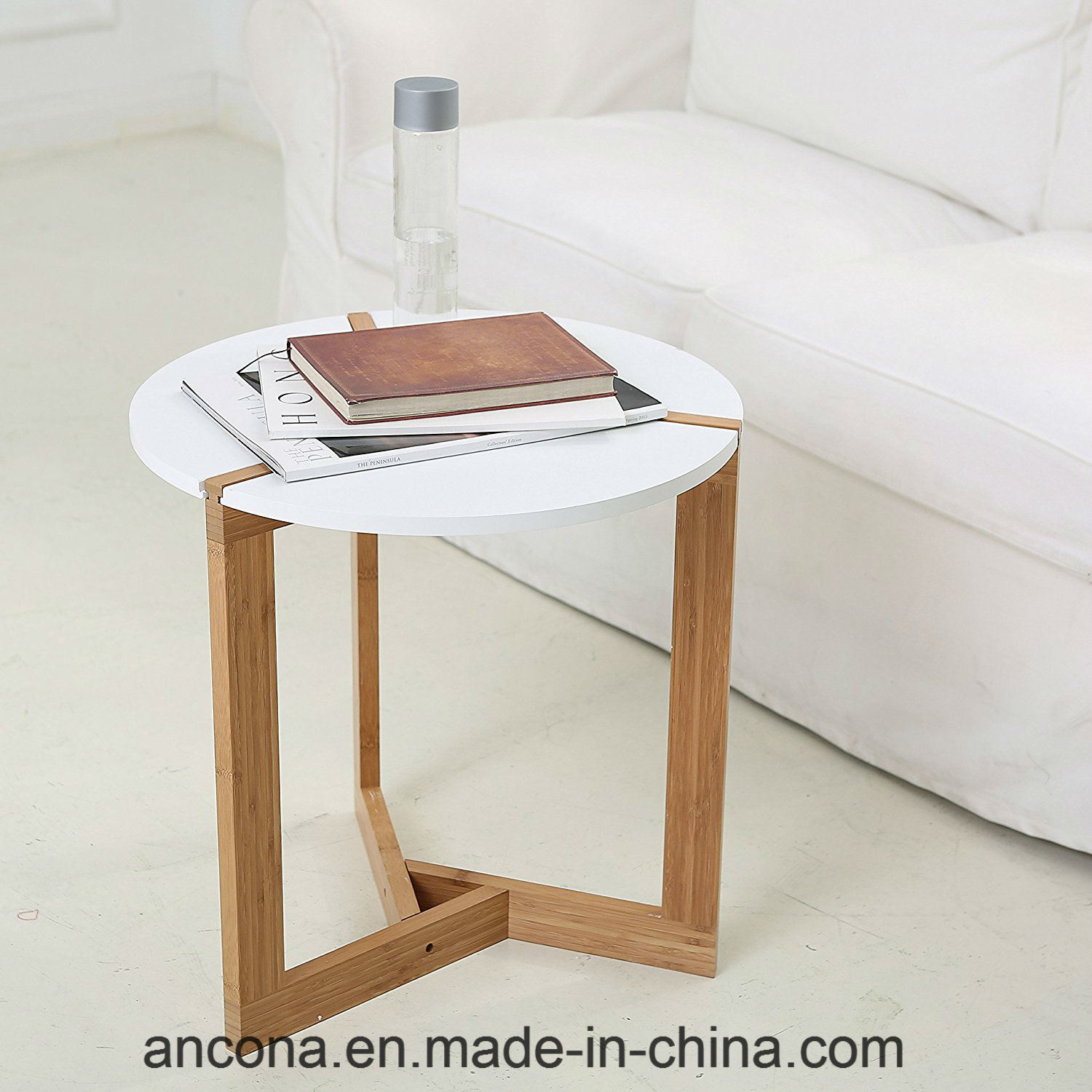 China Simple Design Round Table Bamboo Coffee Living Room Furniture