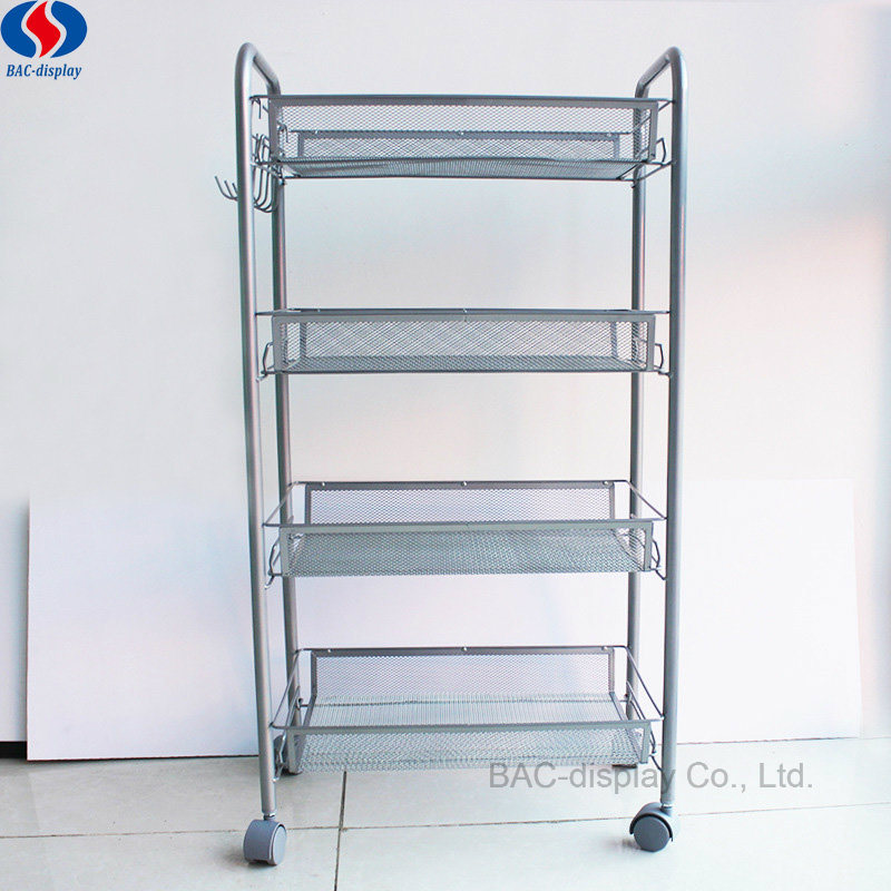 China Mobile Metal Wire Basket Retail Display Shelf Rack - China ...
