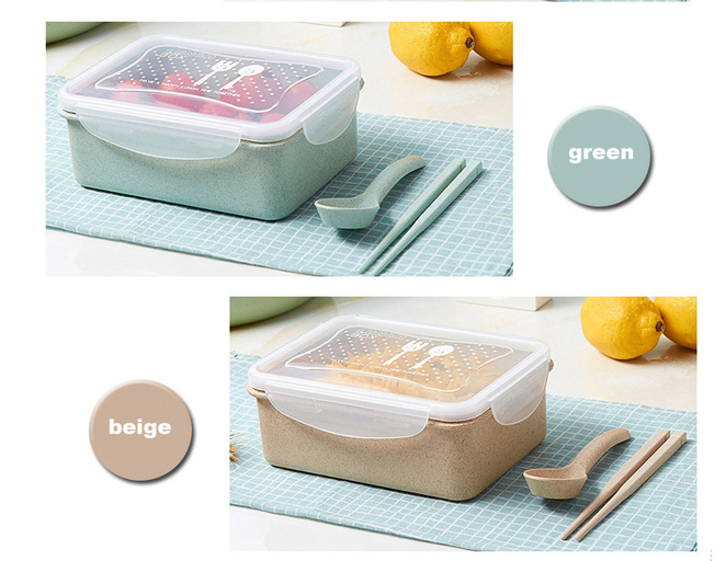 Portable Wheat Fiber Healthy Food Storage Container for Travel u0026 Work  sc 1 st  Ningbo Topten Industry Co. Ltd. & China Portable Wheat Fiber Healthy Food Storage Container for Travel ...