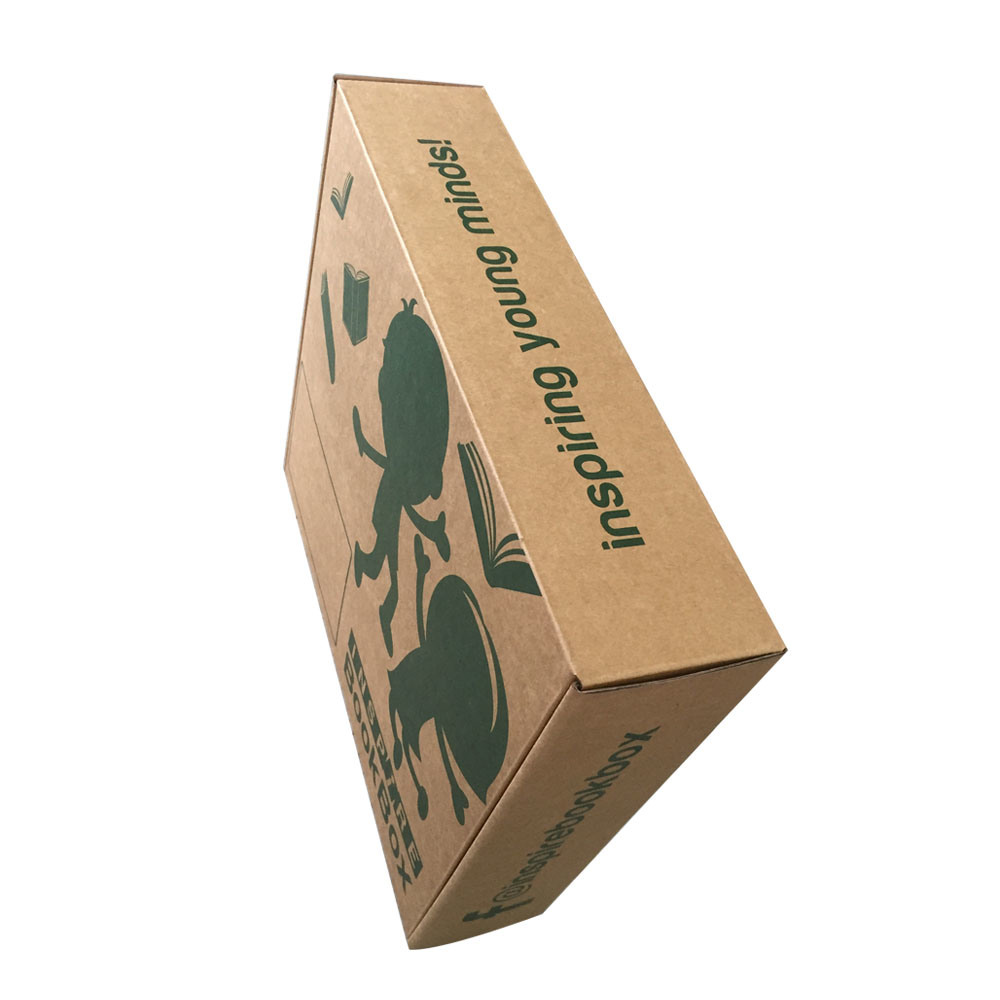 Custom Strong Cardboard Printing Box, Folding Corrugated Carton Box with Handle pictures & photos
