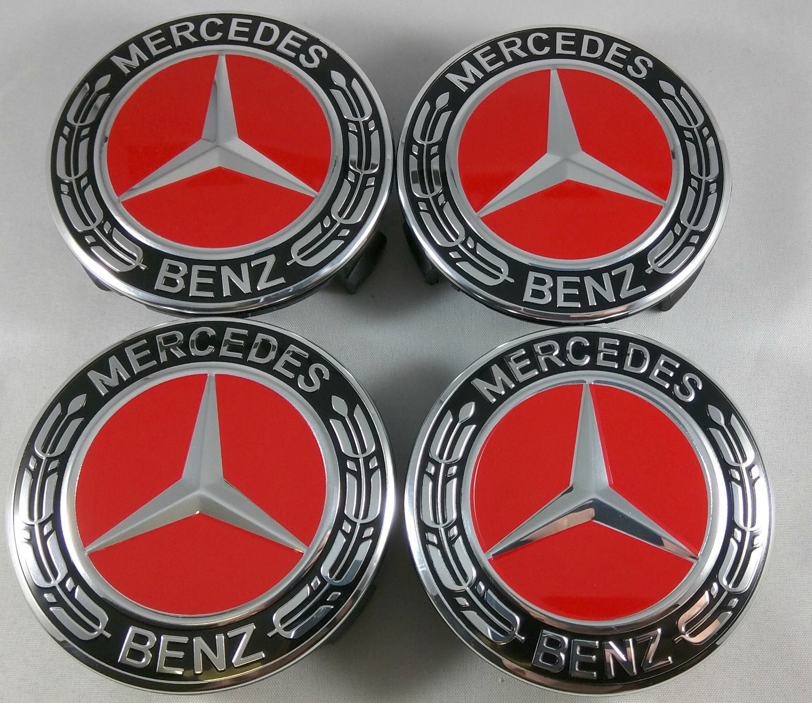 China Wheel Center Caps Emblem Hubcap For Mercedes Benz Red Photos