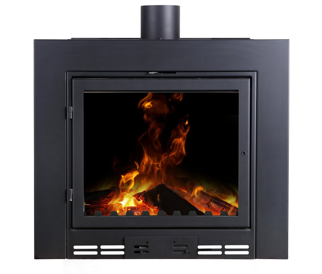 Hot Item 14kw Insert Wood Stove Wood Pellet Wood Fireplace With Firebrick Firebox And Overheatiing Protection Oem Factory