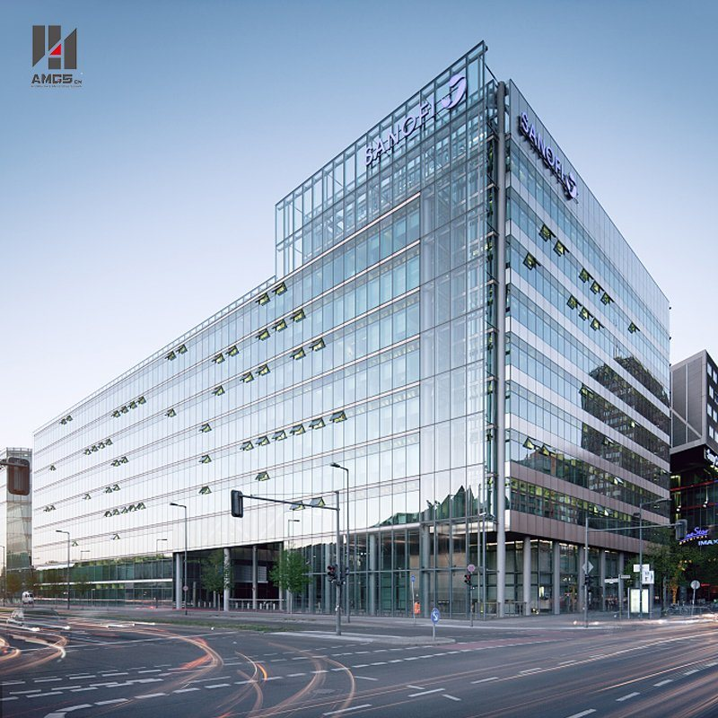 Aluminium Curtain Wall Facades : China building exterior facade reflective glass invisible
