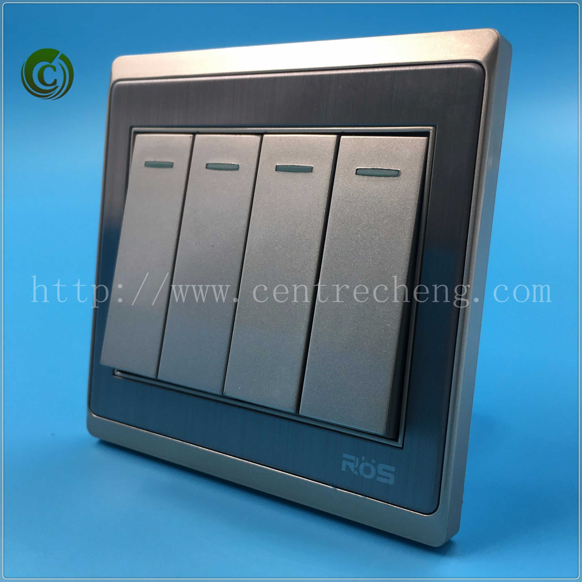 China 2018 High Quality 10A 4 Gang 1 Way/ 2 Way Plate Electric Wall ...