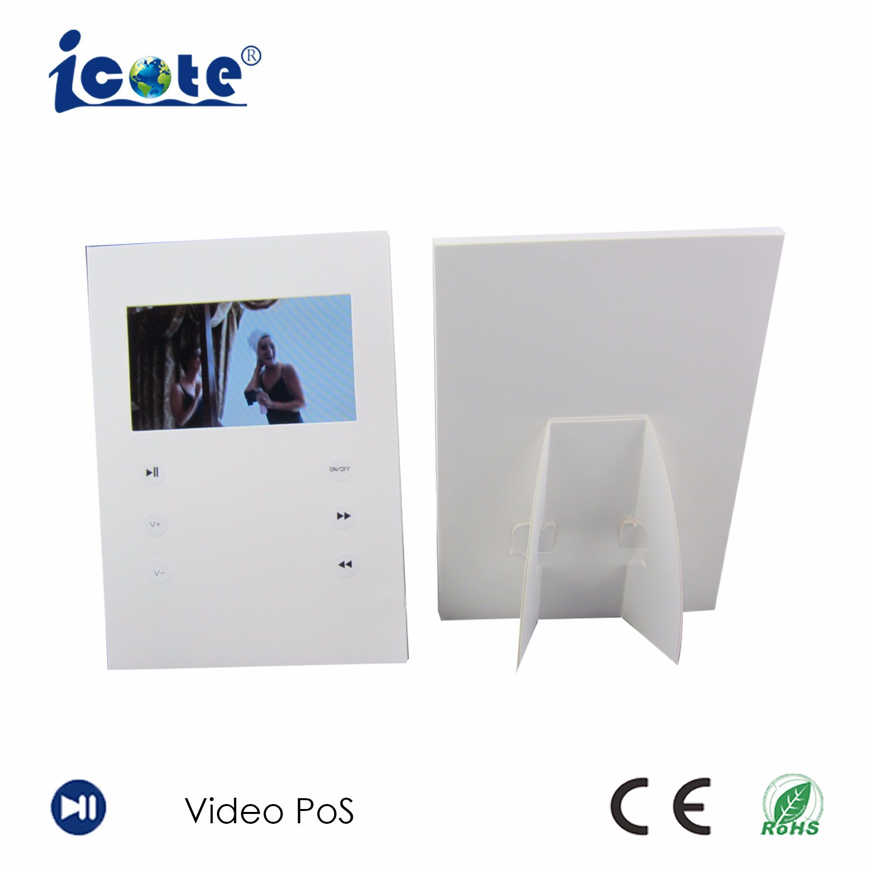 China Very Elegance 7 Inch Video Greeting Card With Ce Rohs