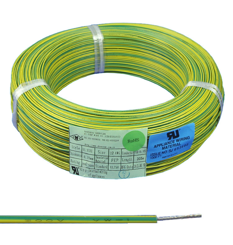 China High Temp. Cable 20 AWG 22AWG Teflon Insulation Wire - China ...