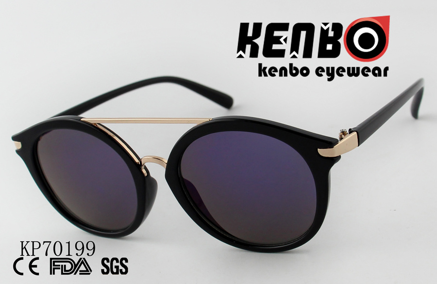 1eb723b20a5e China Cat Eye Sunglasses with Round Lenses and Top Bar Kp70199 - China  Sunglasses