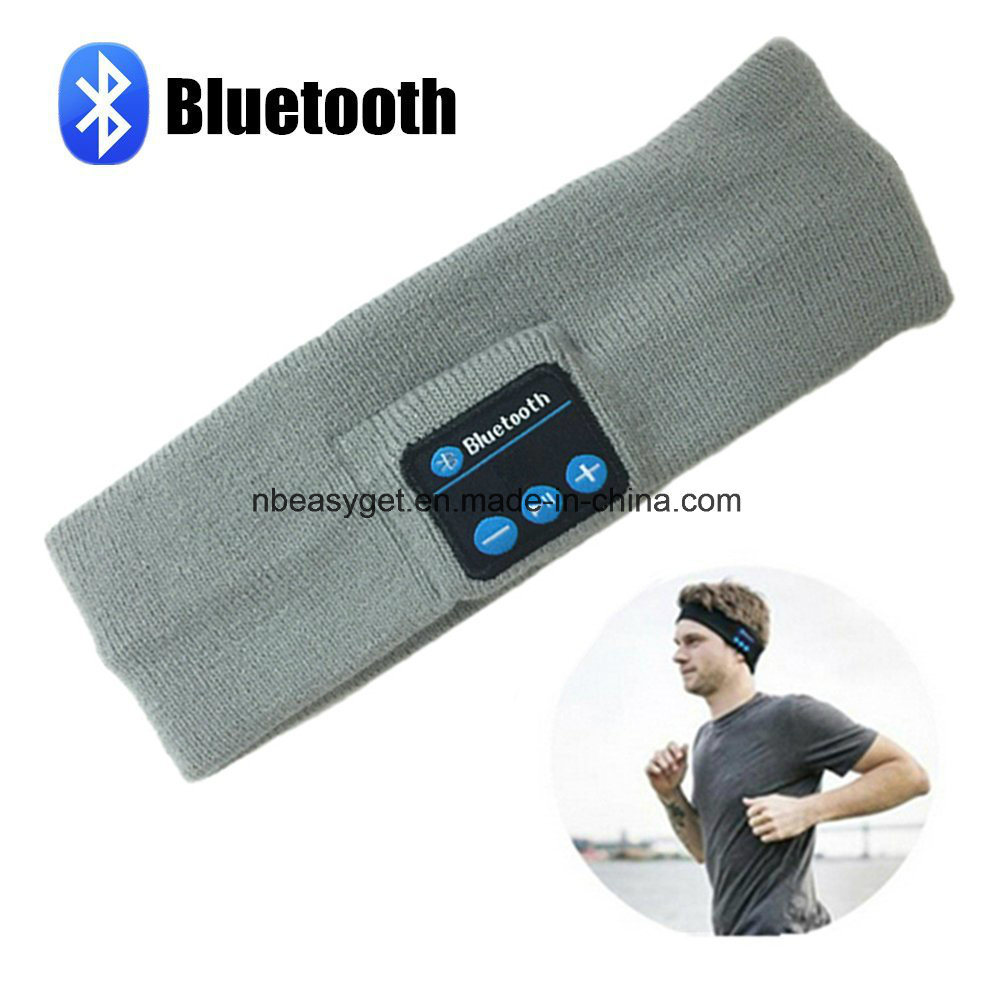 Bluetooth Music Headband, Wireless Bluetooth Stereo Headphones Headset Sport Headband Running Yoga Dancing Headband Grey Black Pink pictures & photos