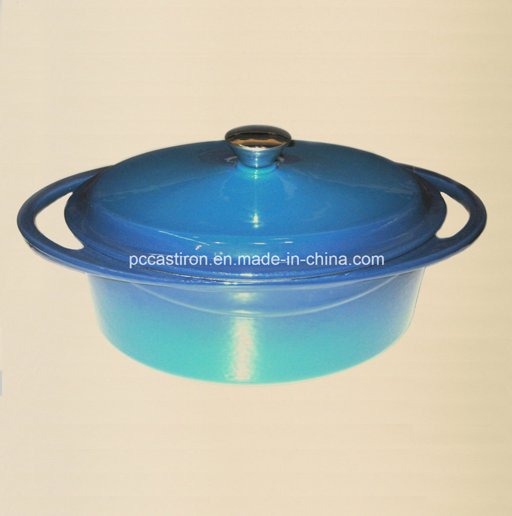 Oval Enamel Cast Iron Casserole Cocotte Manufacturer From China Size 30X23cm pictures & photos