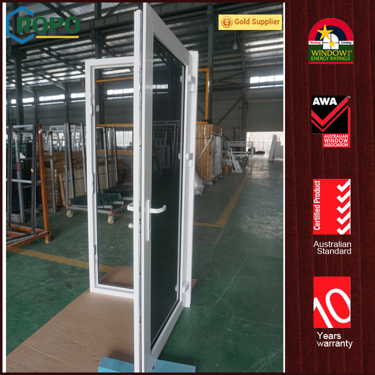 China Upvc Plastic Tempered Glass House Front Safety Door Design