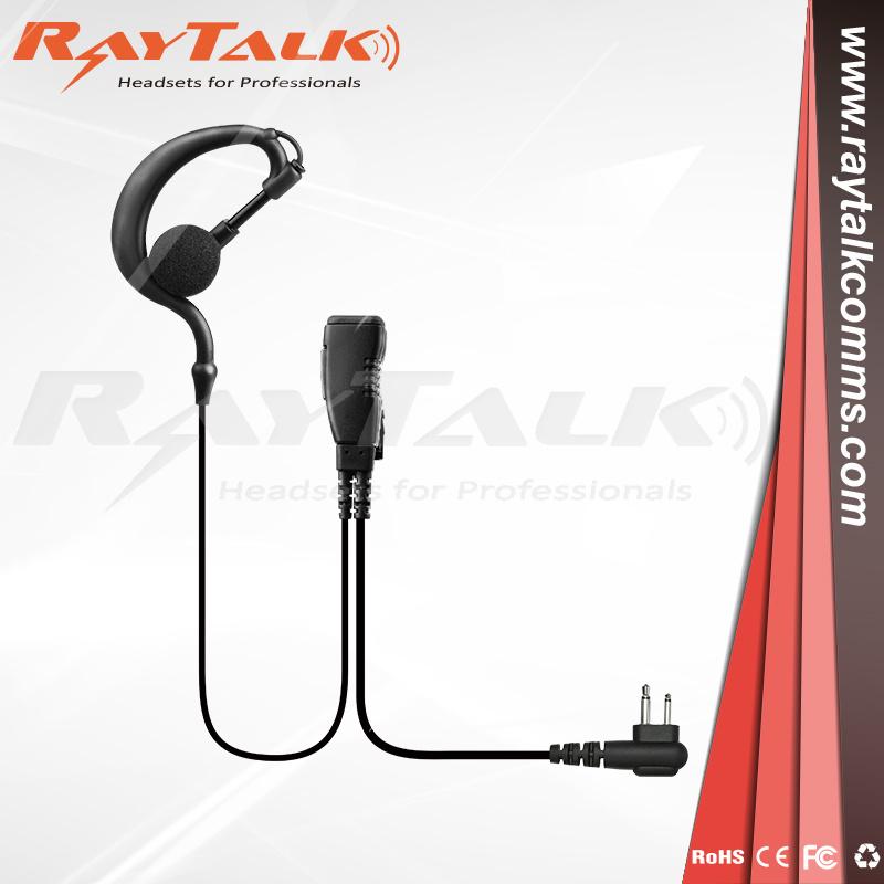 2Pin G-Shape Walkie Talkie Earpiece Headset PTT MIC for Motorola Two Way Radio