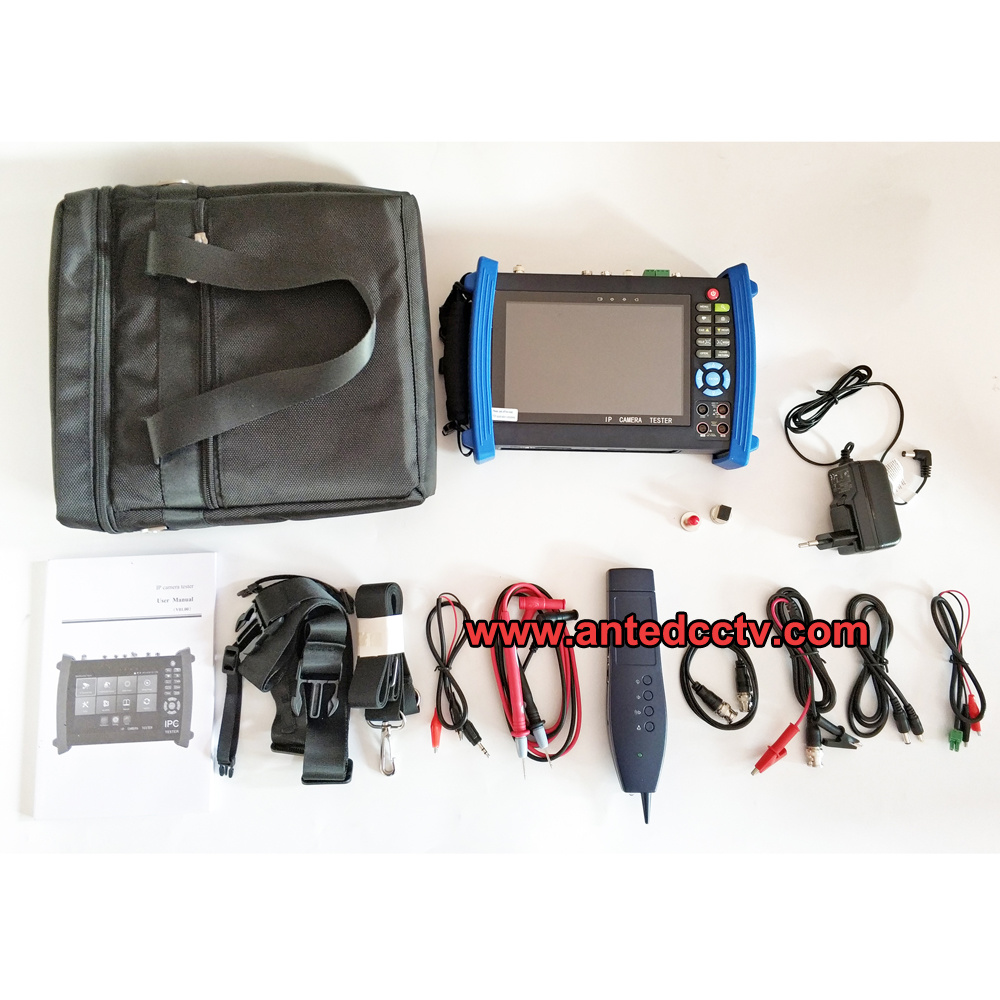 China Handheld Onvif Cctv Ip Camera Test Monitor With 7 Inch Touch Tester Screen