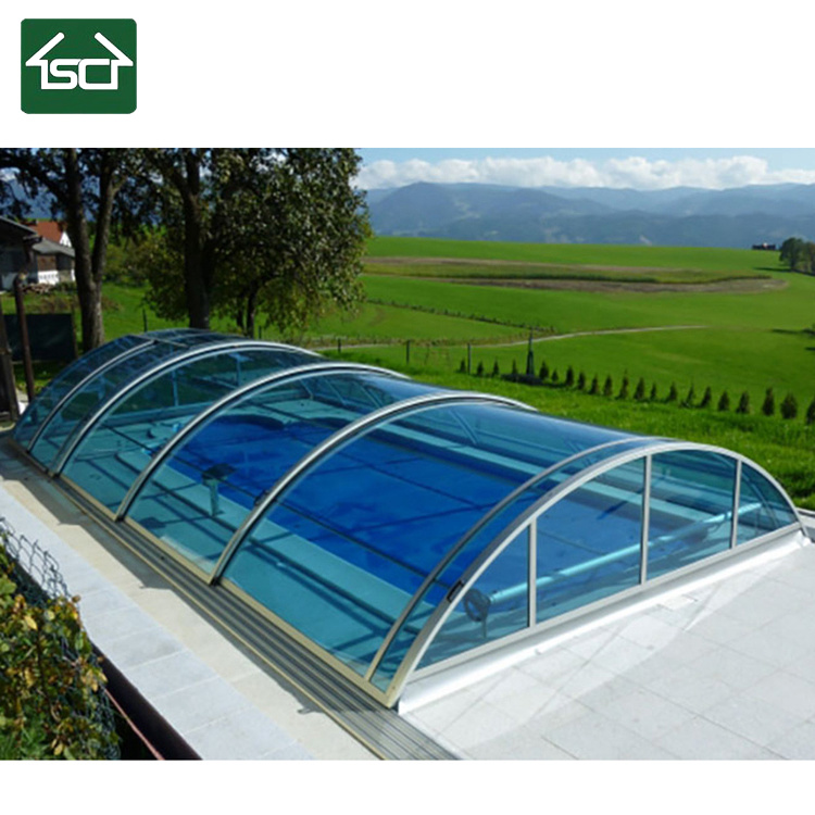 China Retractabel Swimming Pool Enclosure For Swimming Comfortably All Year Round China Pool Cover And Pool Roof Price