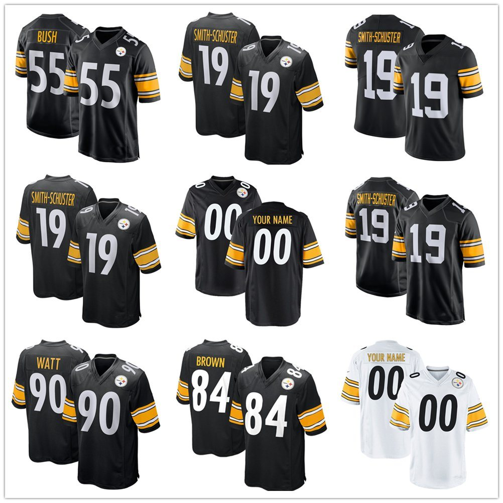 size 40 d4a80 3906a [Hot Item] 2019 Wholesale Juju Smith-Schuster Devin Bush James Conner  Football Jerseys