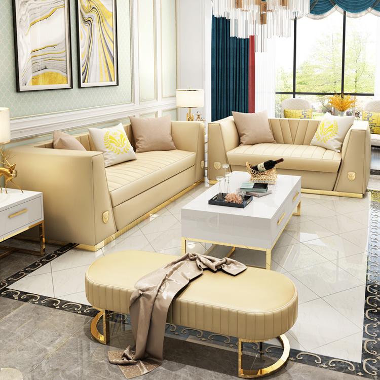 Leather Living Room Hotel Corner Sofa