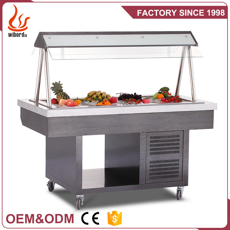 China Commercial Round Type Buffet, Round Table Salad Bar