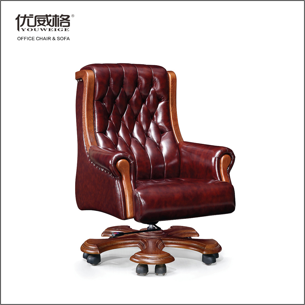 China Ceo Top Luxury Leather 360 Swivel