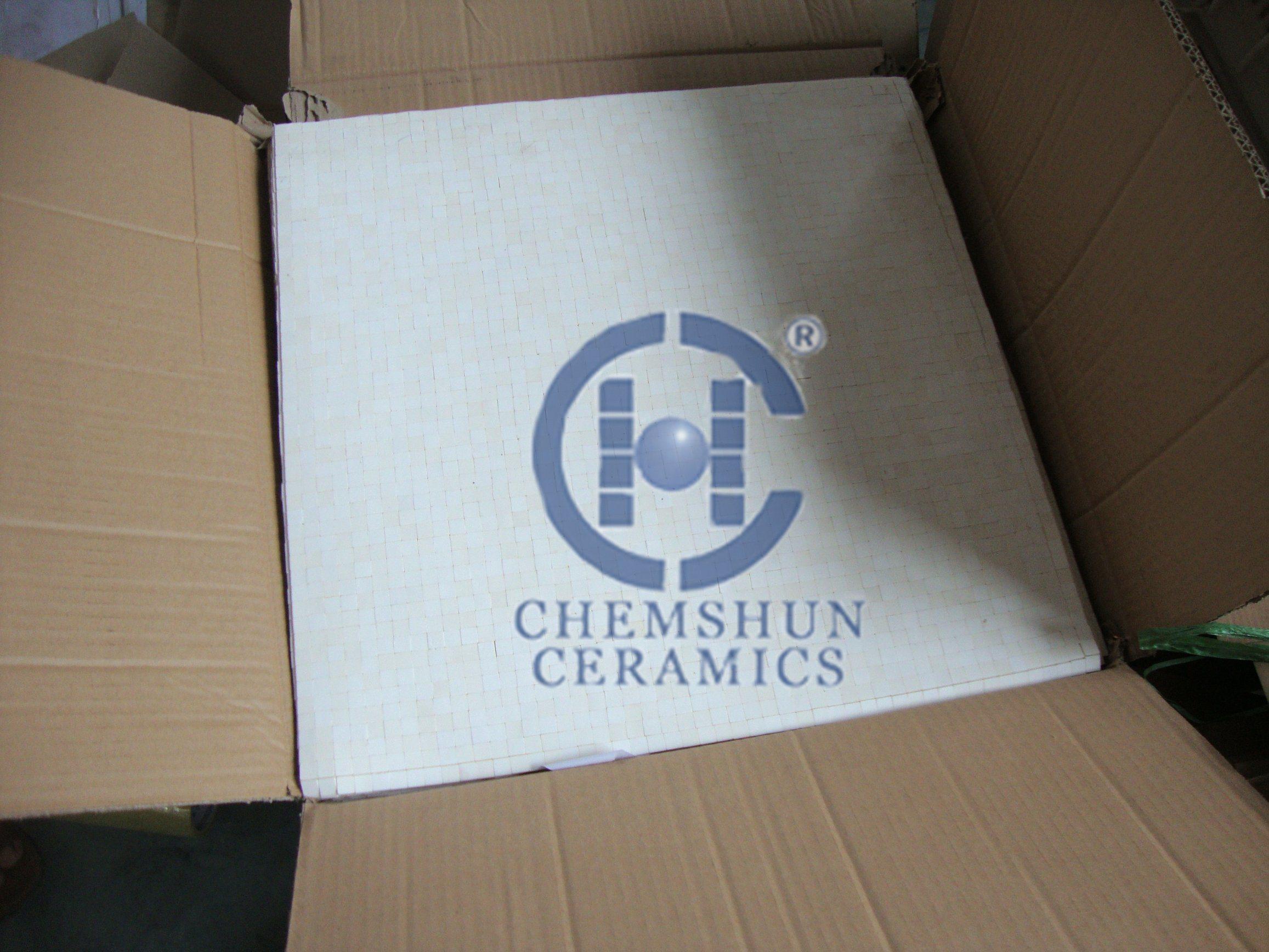 China High Density Alumina Squre Ceramic Tile Mats For Friction