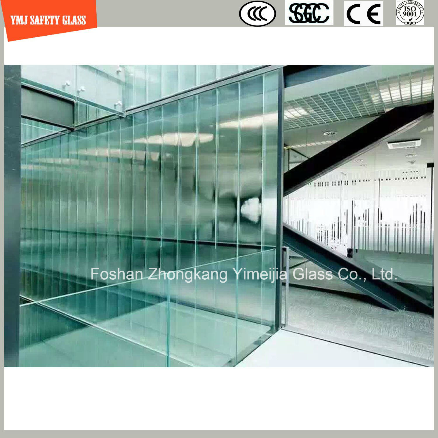 Laminated Glass for Balustrade, Partition and Stairs
