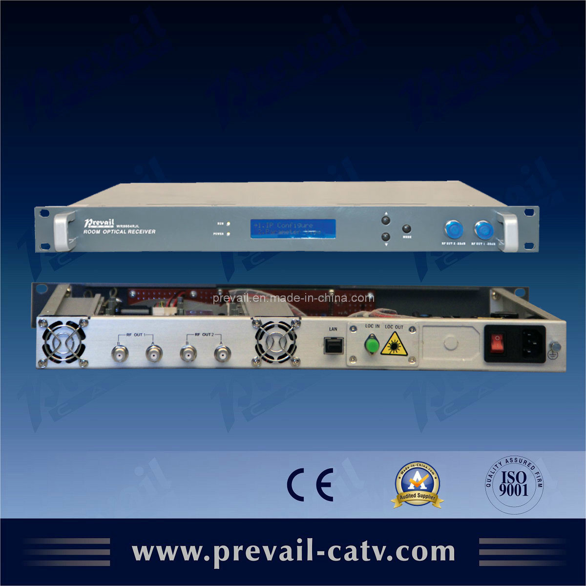 China Indoor 19 Rack Optical Receiver (WR8604RJL) - China Optical ...