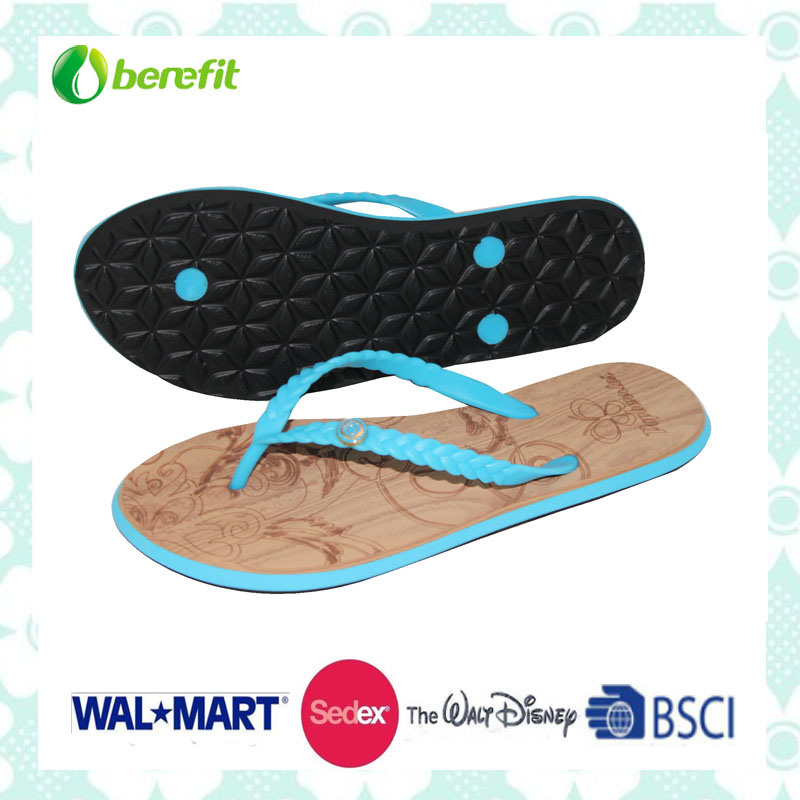 EVA Sole and PVC Upper with Eyelets Decoration, Slippers
