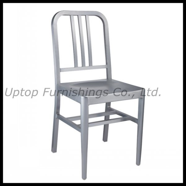 China Durable Nimitz Navy Aluminum Restaurant Chairs (SP OC625)   China  Cafe Chair, Navy Chair