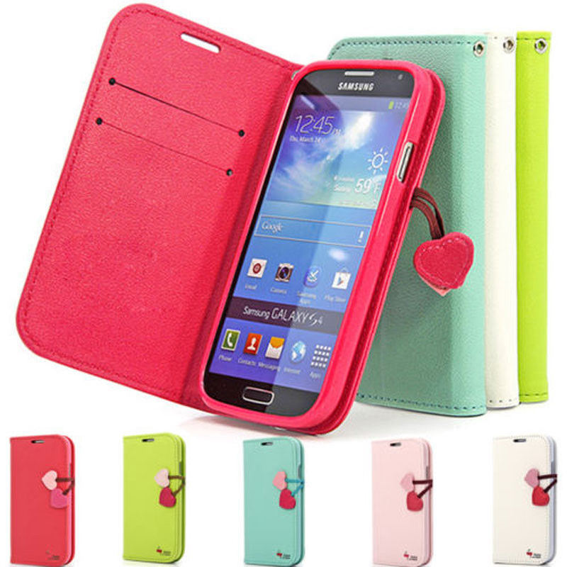 low priced d3d92 99fc7 [Hot Item] Flip PU Leather Case Cover for Samsung Galaxy S4 I9500