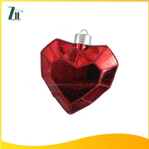 china glass christmas heart shaped ornaments china glass heart