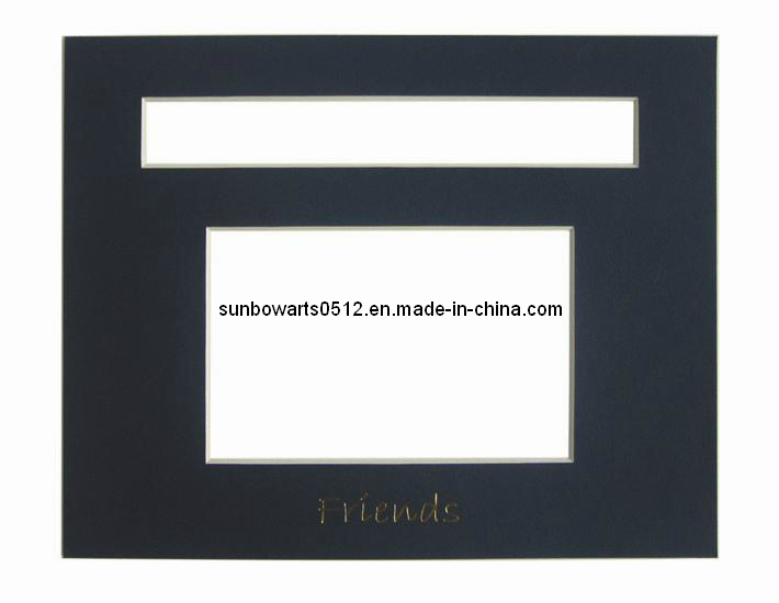 China Picture Frame Black Core Two Opening Photo Frame Mat Board