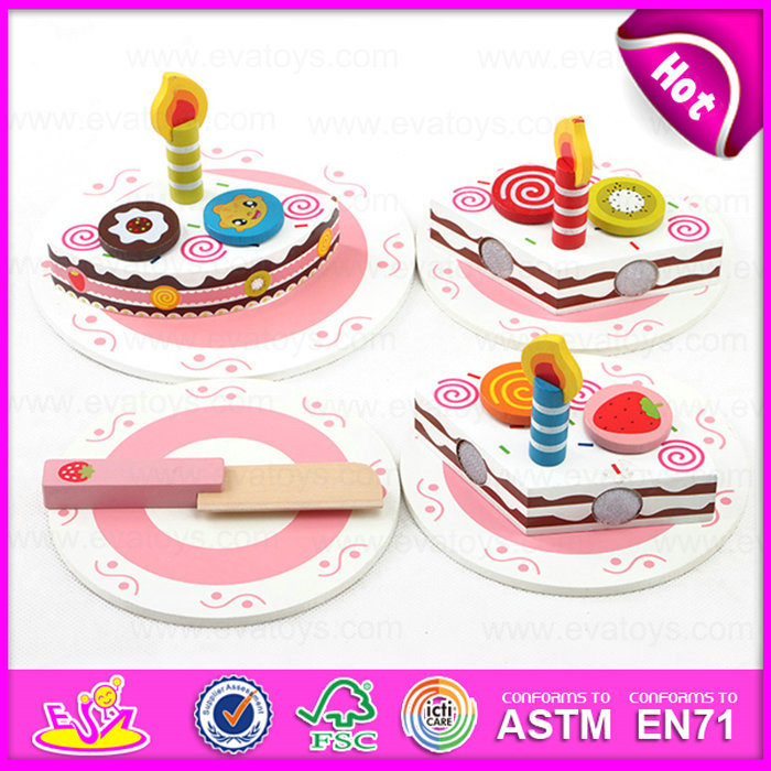 China 2015 Wooden Toy Birthday Cake For Kids Pretend Toy Diy Wooden