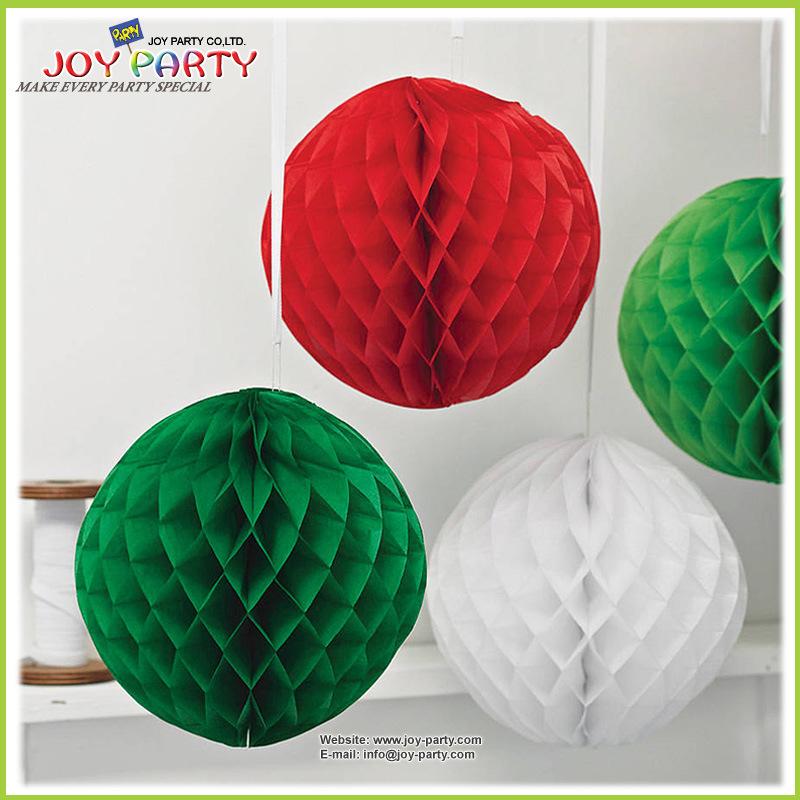 Christmas Ball Garlands.Hot Item Tissue Paper Honeycomb Ball Garlands For Christmas Decoration