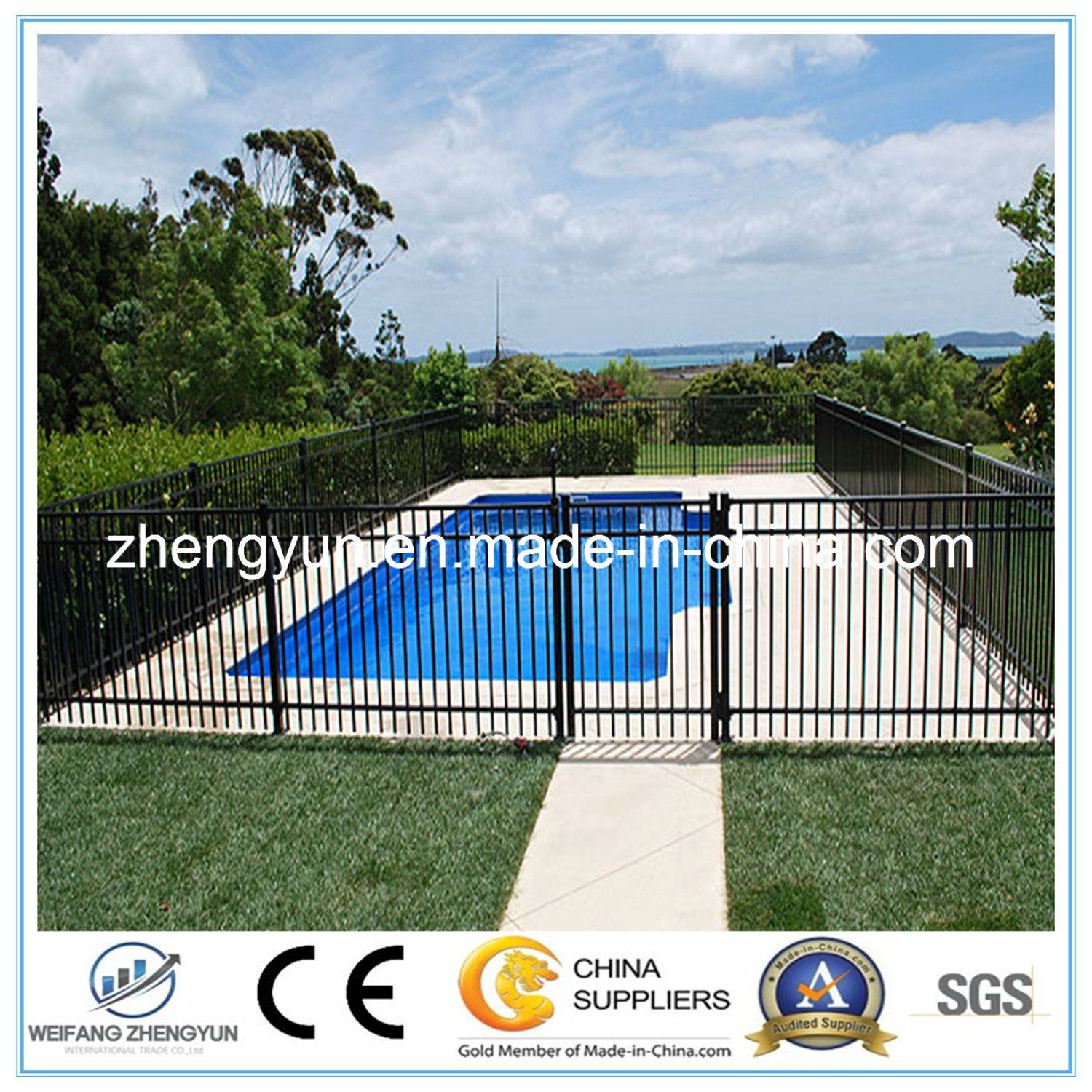 China Hot Sale Metal Fence/ Temporary Swimming Pool Fence - China ...