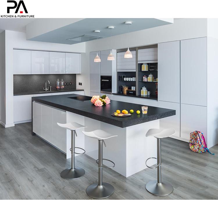 China Home Improvement Modern Design High Gloss White Kitchen Cabinets China Kitchen Cabinets Kitchen Furniture