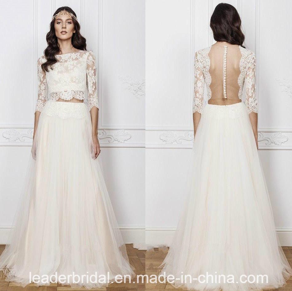 China A-Line Bridal Gowns Bohemia Beach Wedding Dresses Y2039 Photos ...