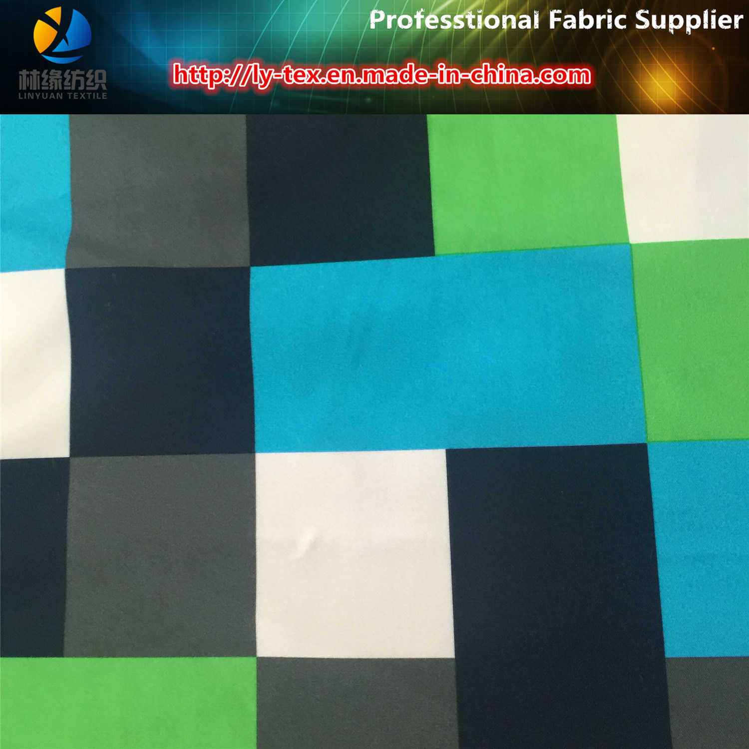 Polyester Twill Peach Skin Fabric Printing for Beach Pants, Polyester Fabric pictures & photos