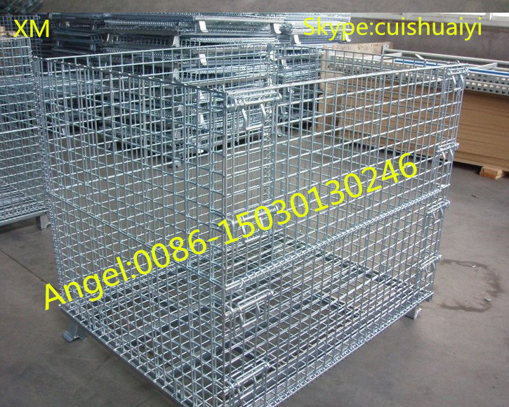 China Stackable and Foldable Heavy Duty Galanvized Storage Cage Wire ...