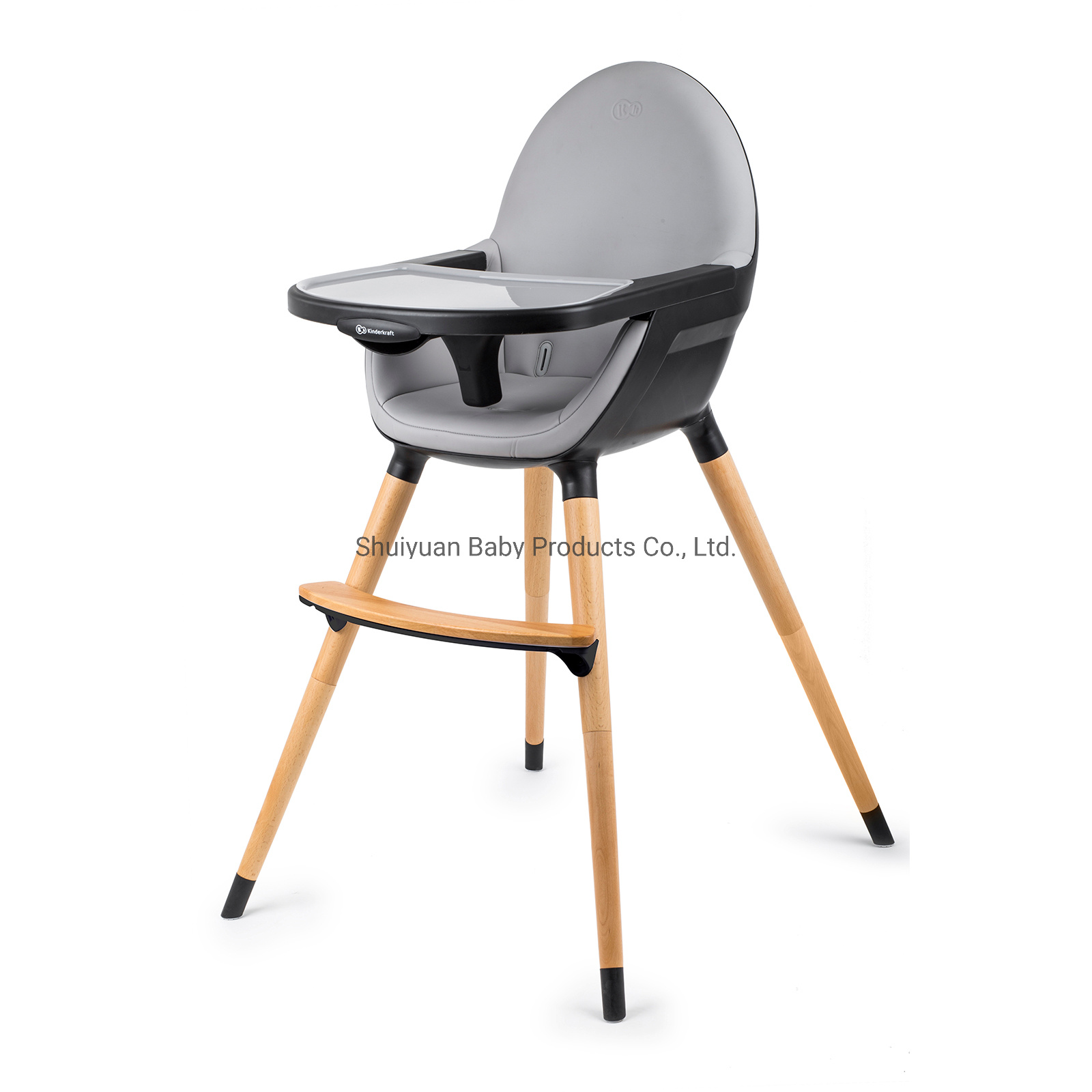 China 3in1 Wooden High Chair With Pu, Leather Baby Rocking Chair