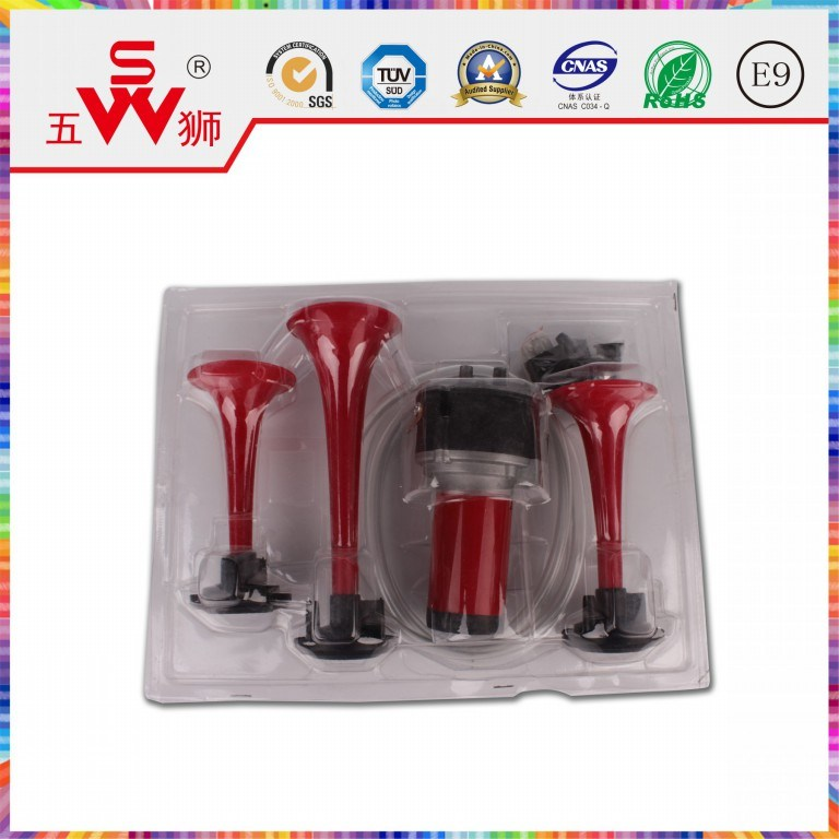 Car Horn Red Three-Way Air Horn pictures & photos