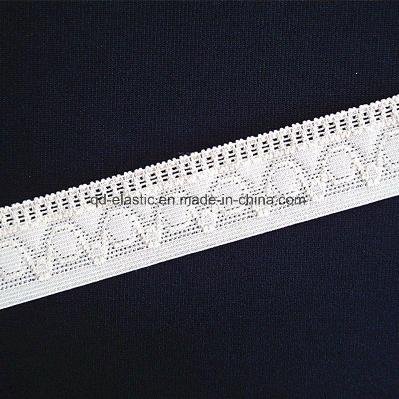 China 25mm Picot Edge Crochet Jacquard Lingerie Elastic China