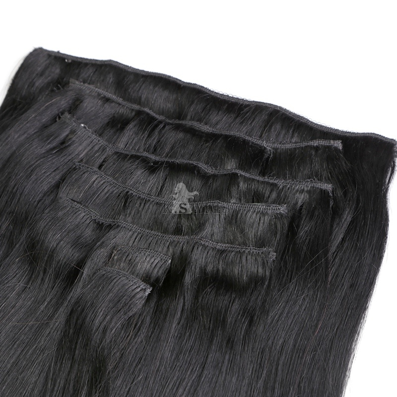 100% European Human Virgin Clip in Hair Extension pictures & photos