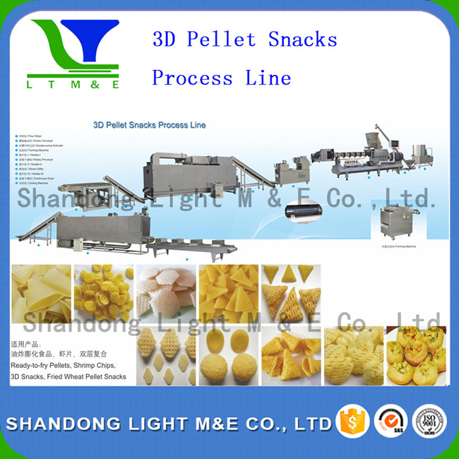 Hot Sale Autonmatic Fried Corn Flour 3D Bugles Snack Machine pictures & photos