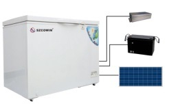 DC 12V Compressor Freezer with Solar Panel Power System Charging