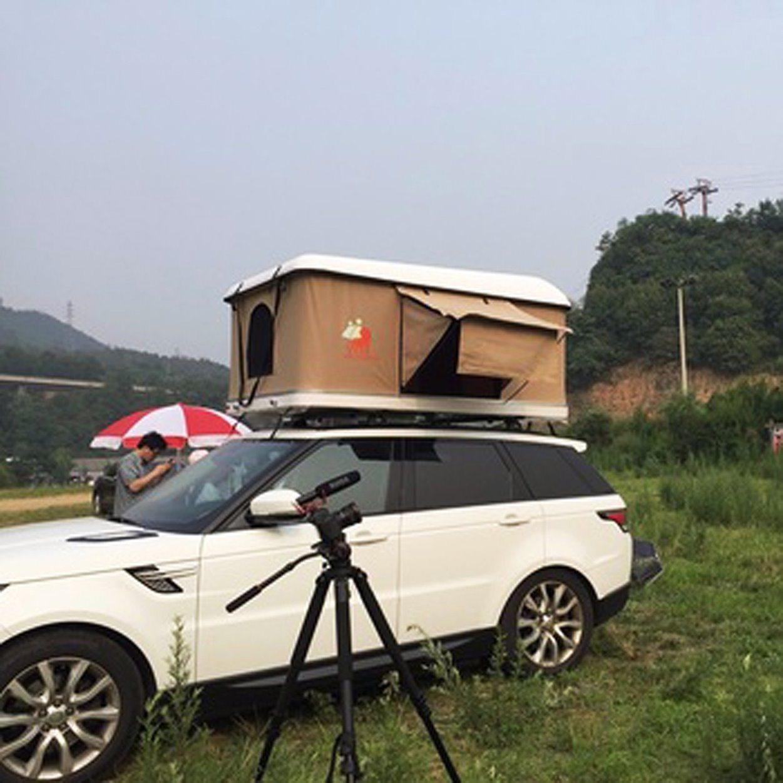 China Canvas Aluminium Car Roof Top Tent Single Layer Roof