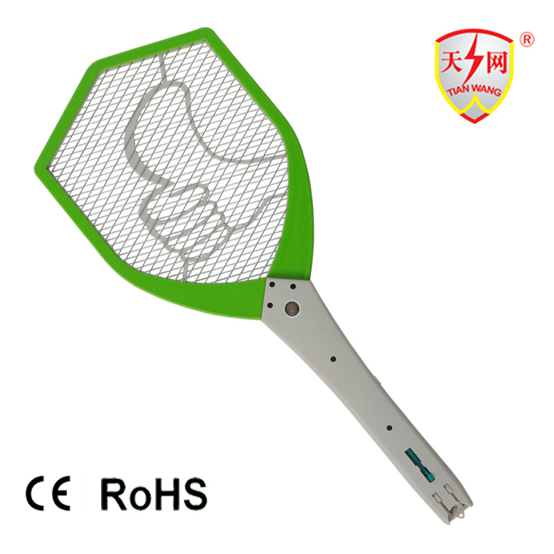 Rechargeable Electronic Fly Swatter with LED Lamp (TW-09) pictures & photos
