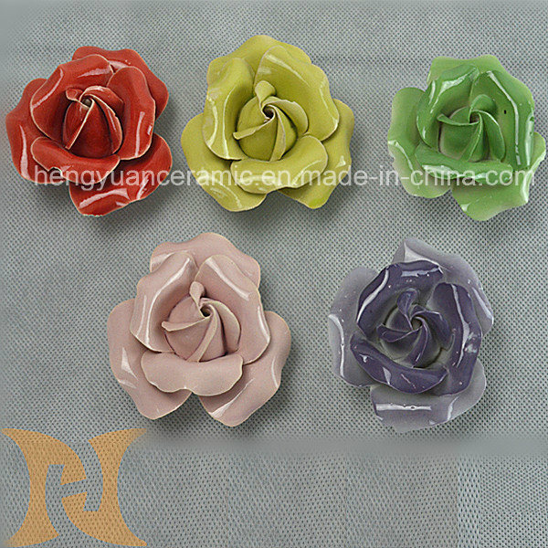 Beautiful Ceramic Rose Flower, Home Decoration.
