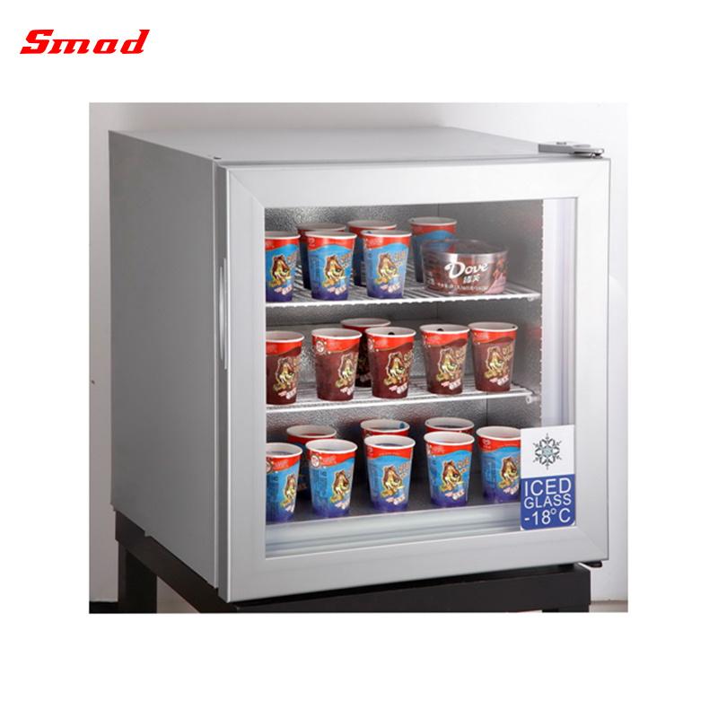 Glass Door Counter Top Display Freezer Mini Ice Cream