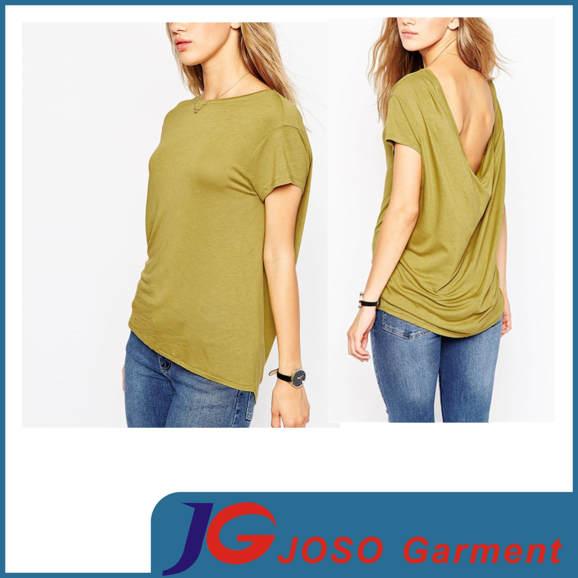 China Crop Tee Shirt Top Blouse Designs For Women Js9022 China