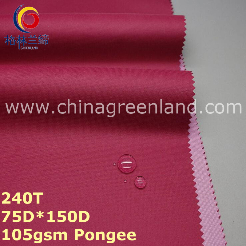 100%Polyester Pongee PU Coating Fabric for Sports Dust Coat Garment (GLLML249)